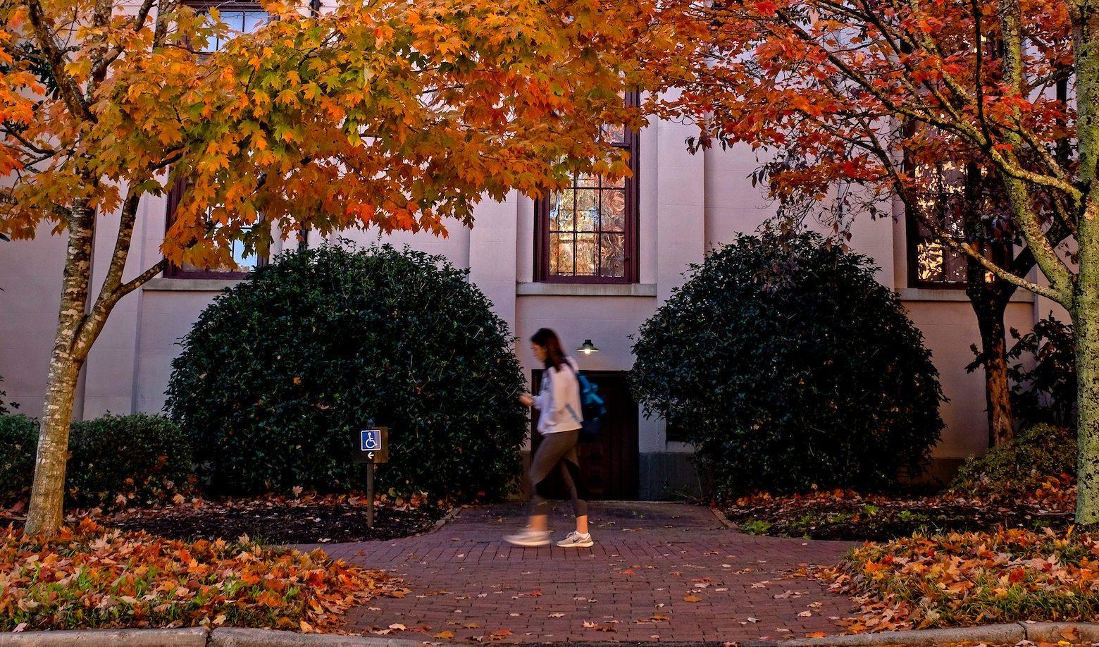 Campus fall scene