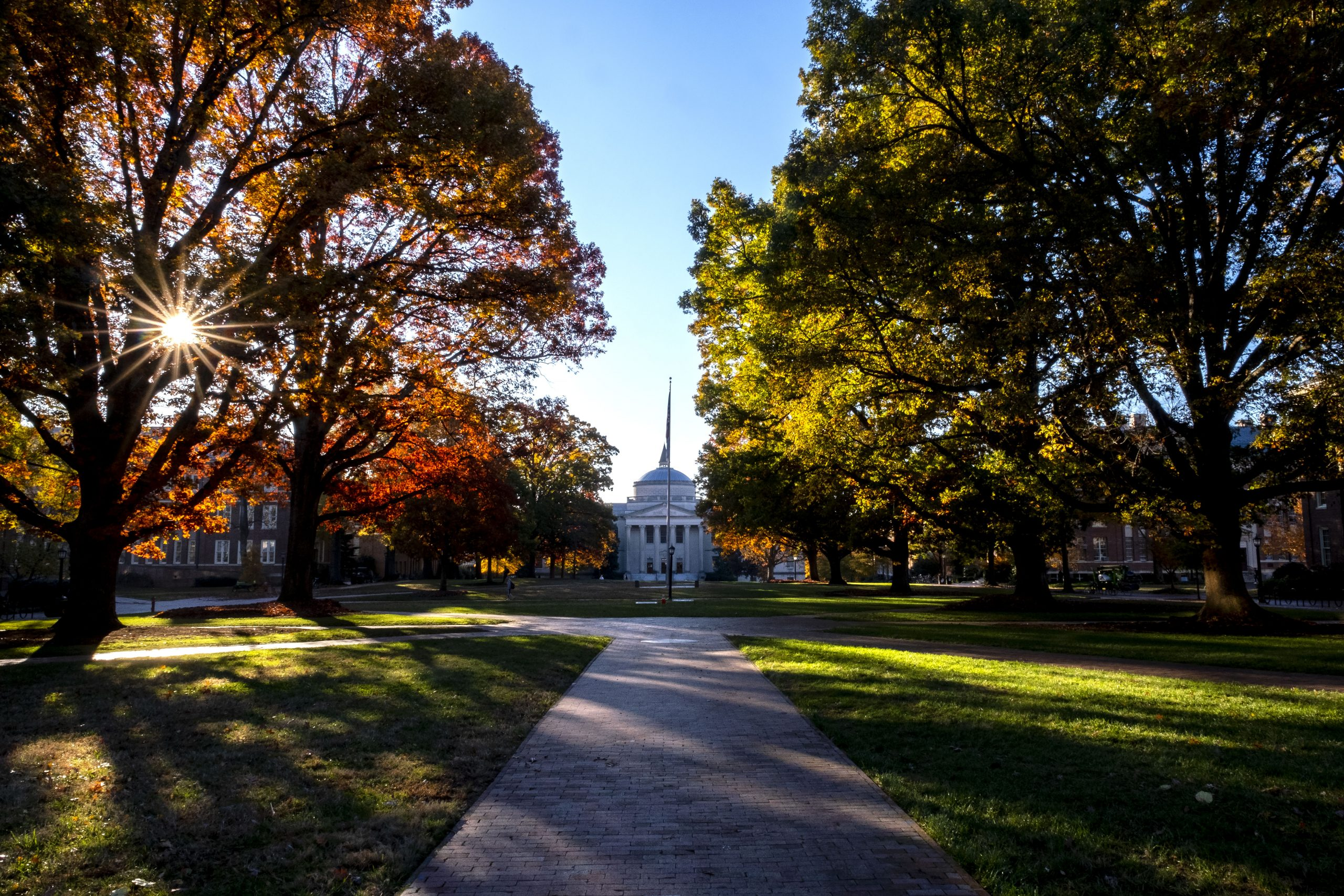 Fall scene of campus