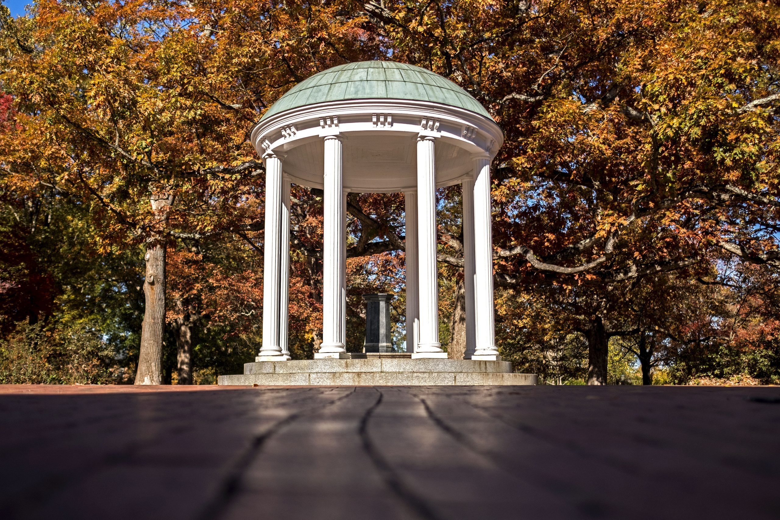 Fall scene of Old Well.